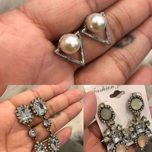 NWOT 3x Pairs Of Costume Jewelry Earrings